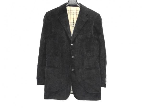 バーバリーロンドン ジャケット サイズ48 XL メンズ 黒 コーデュロイ