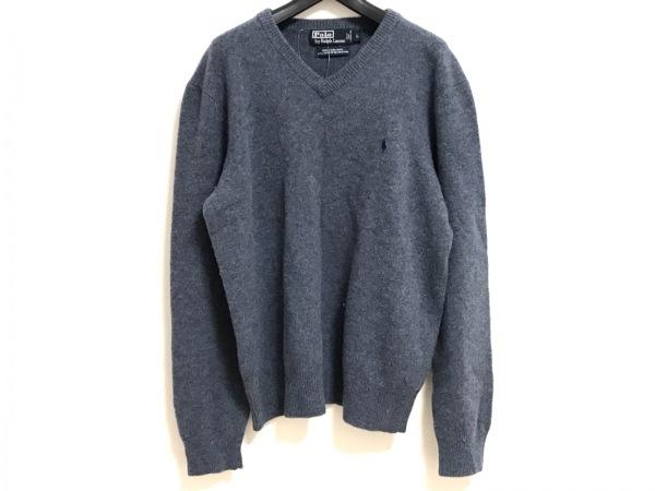 POLObyRalphLauren(ポロラルフローレン) 長袖セーター サイズL メンズ ブルー