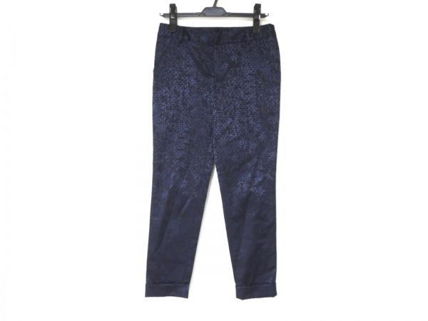 ダーマコレクション パンツ サイズ61-89 レディース美品  ネイビー×黒