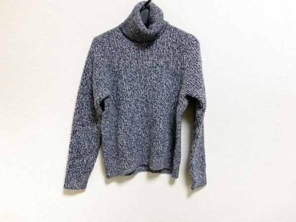 デザインワークス 長袖セーター サイズ38 M レディース美品  ネイビー×白