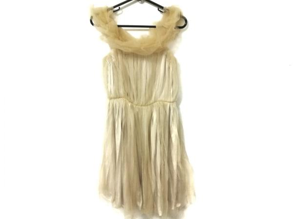 ランバンオンブルー ドレス サイズ36 S レディース美品  ベージュ チュール