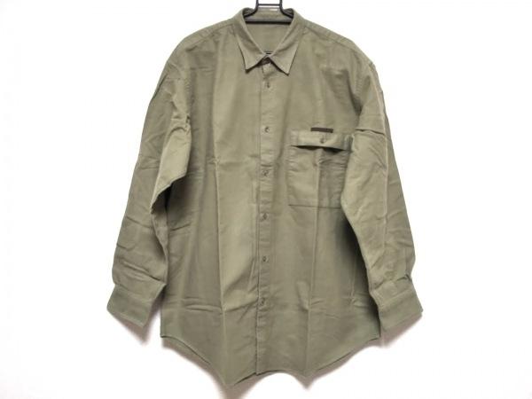 Papas(パパス) 長袖シャツ サイズL メンズ ダークグリーン