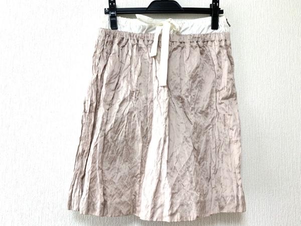 PRADA(プラダ) スカート サイズ40 M レディース美品  ベージュ