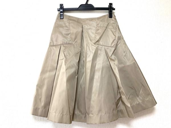 PRADA(プラダ) スカート サイズ40 M レディース ベージュ