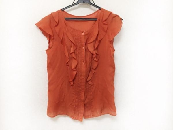 アナイ ノースリーブシャツブラウス サイズ38 M レディース美品  オレンジ フリル