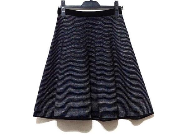 LANVIN en Bleu(ランバンオンブルー) スカート サイズ38 M レディース美品  黒×白