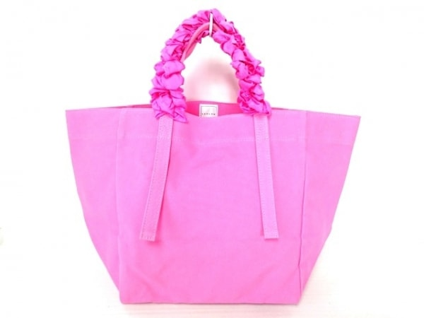 LUDLOW(ラドロー) トートバッグ ピンク キャンバス×化学繊維