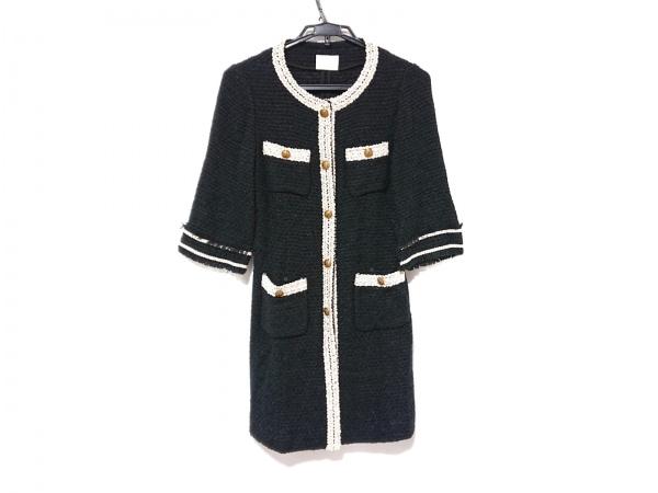 グレースクラス ジャケット サイズ36 S レディース 黒×アイボリー ロング丈