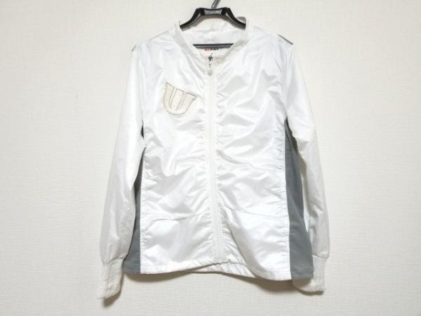 ミエコウエサコ ジャージ サイズ42 L レディース美品  白×ライトグレー×マルチ