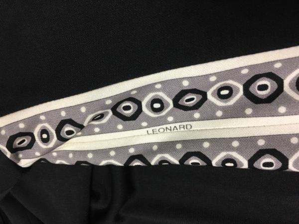 LEONARD(レオナール) チュニック サイズ40 M レディース 黒×アイボリー×グレー