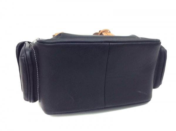 GINZA Kanematsu(ギンザカネマツ) ハンドバッグ 黒×ベージュ ミニサイズ レザー