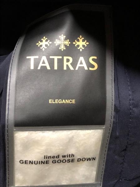 タトラス ダウンベスト レディース美品  ジョコンダ LTA16A4491 ダークネイビー 冬物