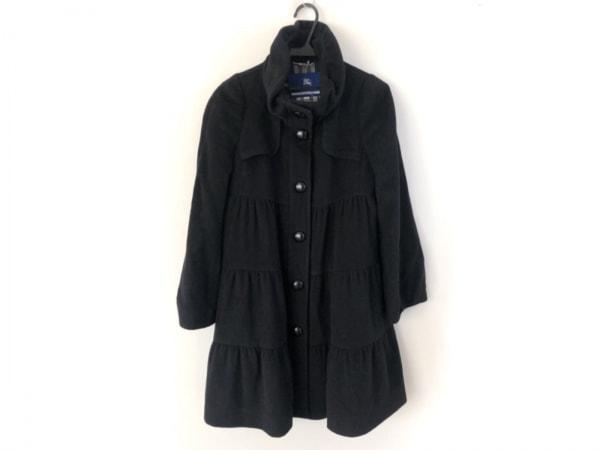 バーバリーブルーレーベル コート サイズ38 M レディース美品  黒 冬物