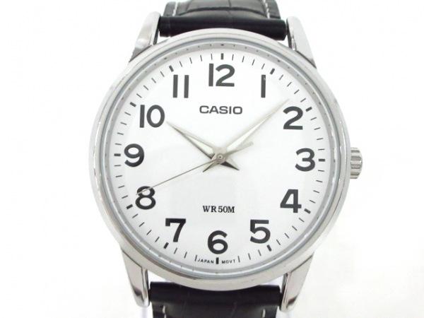 CASIO(カシオ) 腕時計 MTP-1303 メンズ 革ベルト/型押し加工 白
