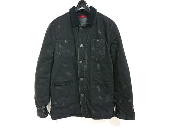 ポロラルフローレン コート サイズM メンズ美品  黒 冬物/ダメージ加工/デニム