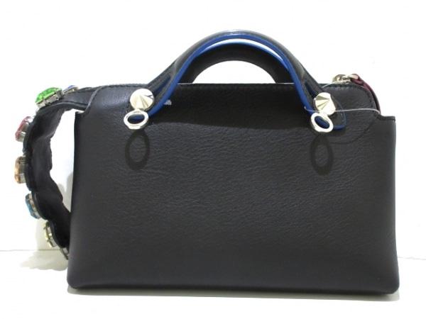 FENDI(フェンディ) ハンドバッグ ミニバイザウェイ 8BL135 黒 ビジュー レザー