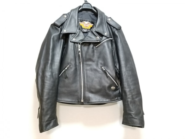 ハーレーダビッドソン ライダースジャケット サイズXXL XL メンズ美品  黒 冬物