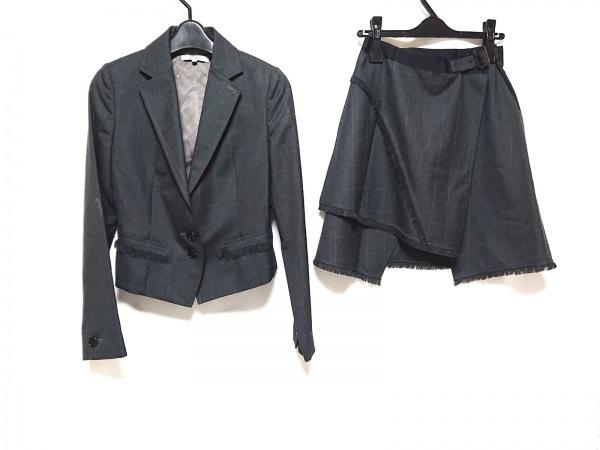 ベラルディ スカートスーツ サイズ38 M レディース美品  ダークグレー チェック柄