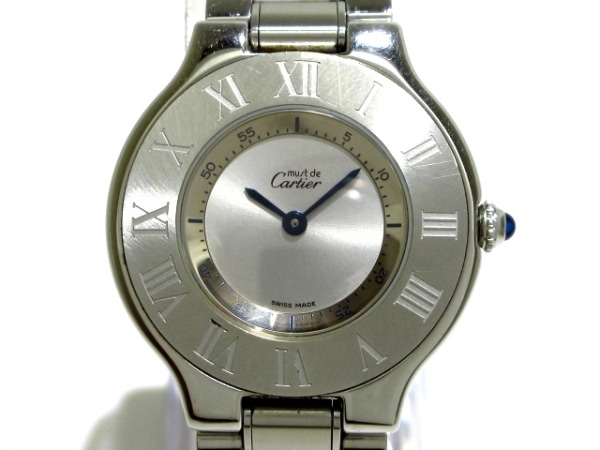 Cartier(カルティエ) 腕時計美品  マスト21LM W10110T2 メンズ シルバー