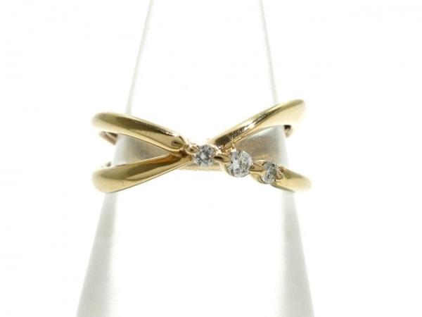 スタージュエリー リング美品  K18PG×ダイヤモンド 3Pダイヤ/0.05カラット