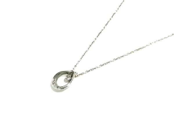 スタージュエリー ネックレス美品  K10WG×ダイヤモンド 3Pダイヤ/0.01カラット