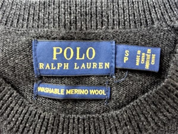 ポロラルフローレン 長袖セーター サイズSP S レディース美品  ダークグレー