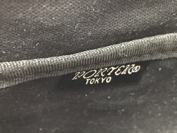 PORTER/吉田(ポーター) ウエストポーチ - 黒 コーティングキャンバス×化学繊維