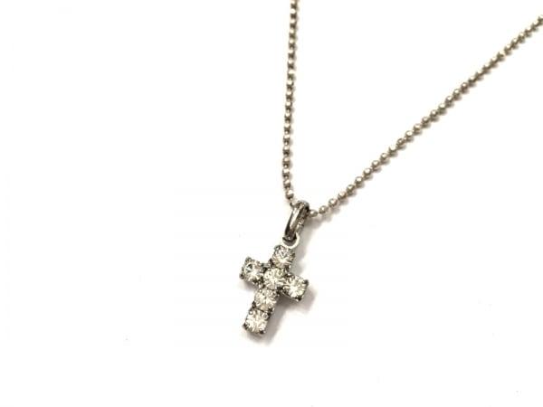 AGATHA(アガタ) ネックレス美品  シルバー×ラインストーン クリア クロス