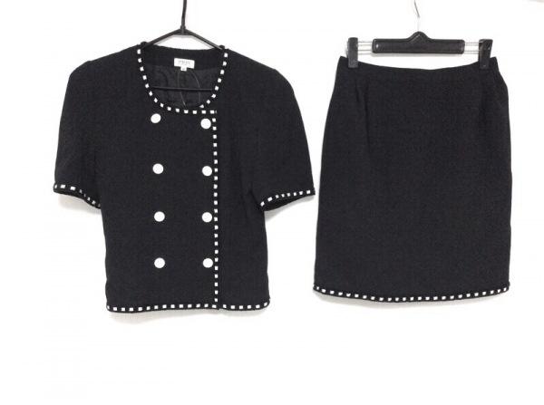 FOXEY(フォクシー) スカートスーツ サイズ38 M レディース 黒×白