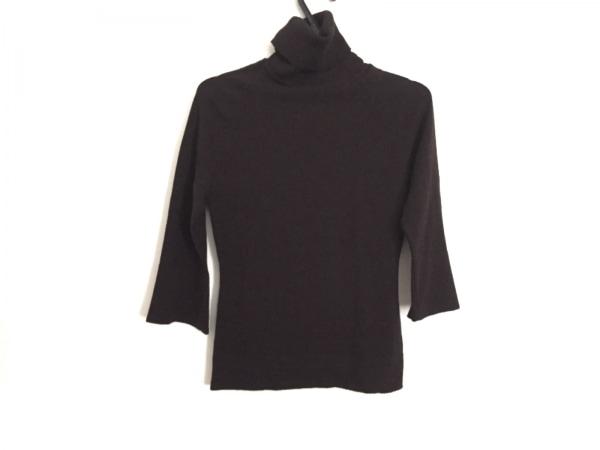 マックスマーラ 七分袖セーター サイズS レディース ダークブラウン タートルネック