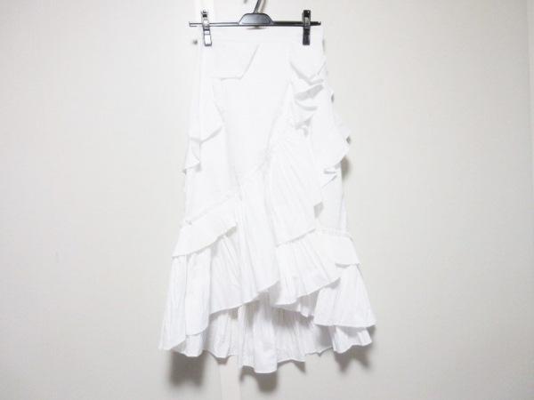 FRAY I.D(フレイアイディー) スカート サイズ0 XS レディース 白 プリーツ/フリル