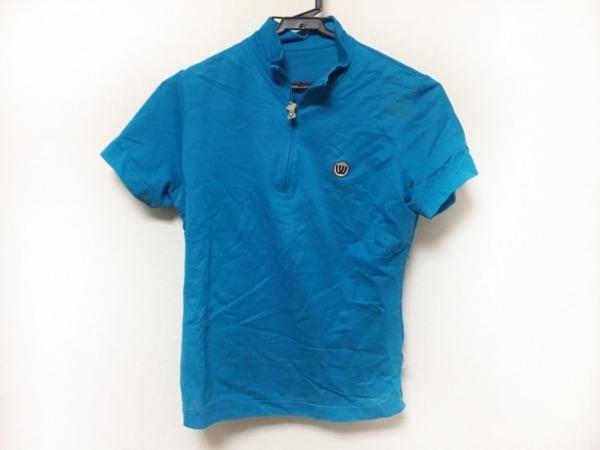 ミエコウエサコ 半袖カットソー サイズ40 M レディース美品  ブルー×マルチ