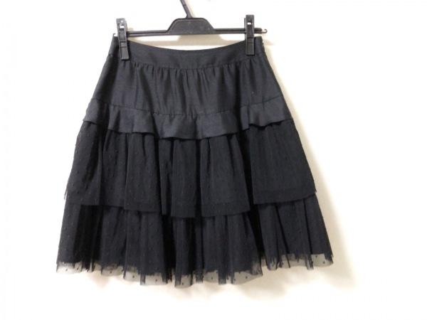 TO BE CHIC(トゥービーシック) スカート サイズ40 M レディース美品  黒 ドット柄