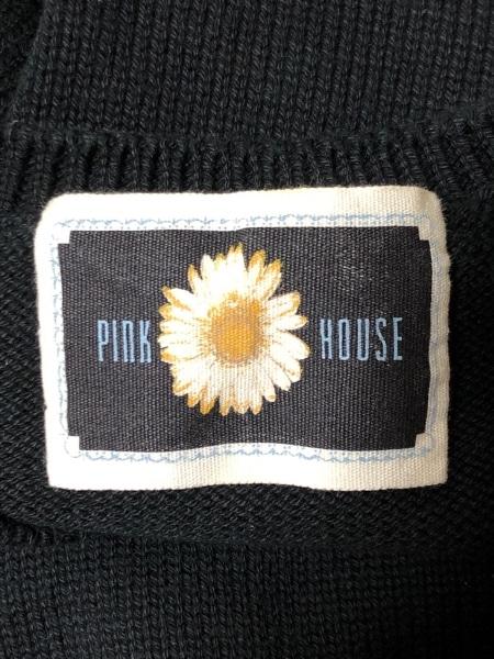 PINK HOUSE(ピンクハウス) 長袖セーター レディース 黒×白×マルチ フラワー