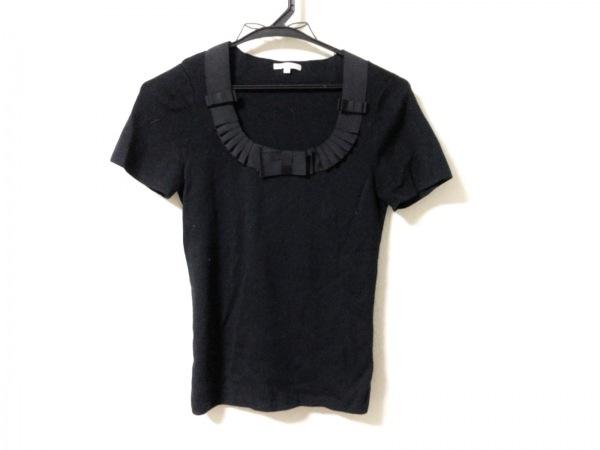 TO BE CHIC(トゥービーシック) 半袖セーター サイズ2 M レディース美品  黒 リボン