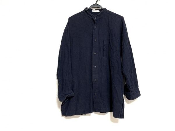 ISSEYMIYAKE(イッセイミヤケ) 七分袖シャツ サイズM メンズ - ネイビー