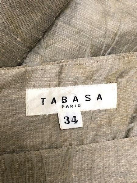 TABASA(タバサ) ワンピース サイズ34 S レディース美品  ベージュ 花柄