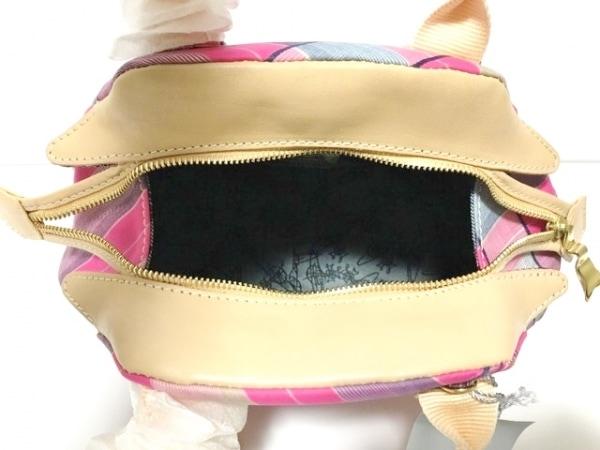 ヴィヴィアンウエストウッド ハンドバッグ美品  ピンク×マルチ チェック柄