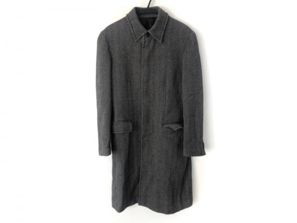 COMME CA DU MODE MEN(コムサデモードメン) コート メンズ美品  黒×グレー 冬物