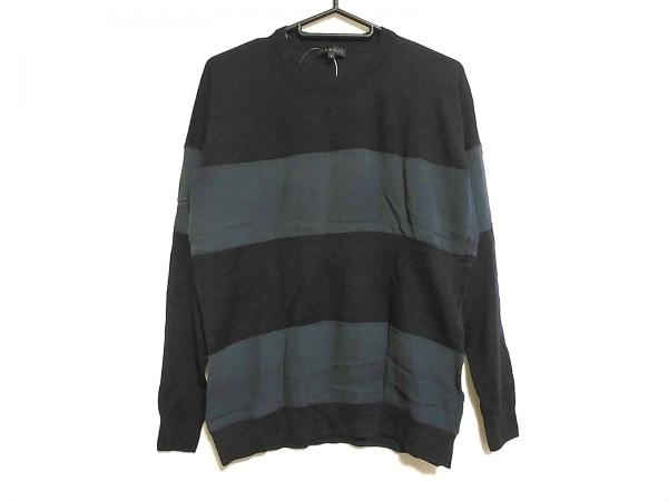 theory(セオリー) 長袖セーター サイズS レディース美品  ネイビー ボーダー/シルク