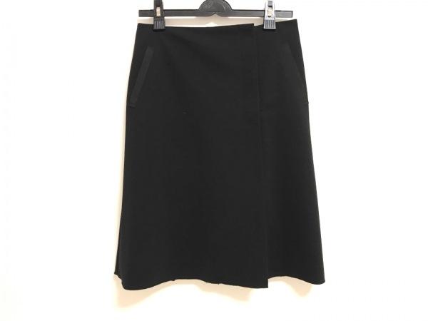 フォクシーニューヨーク 巻きスカート サイズ40 M レディース美品  黒