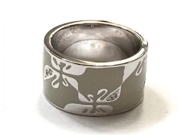 スワロフスキー リング美品  金属素材×スワロフスキークリスタル 3