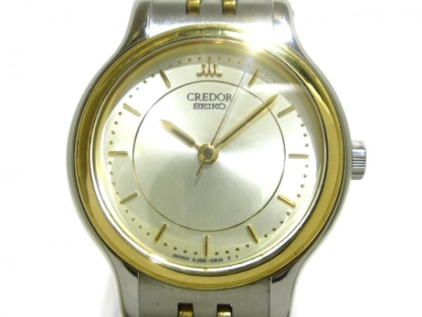 セイコークレドール 腕時計美品  4J85-0A10 レディース シルバー×ゴールド