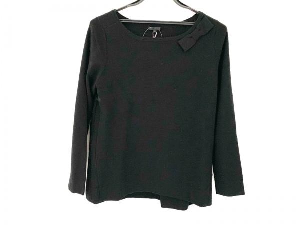 トゥービーシック 長袖セーター サイズ2 M レディース新品同様  黒 リボン
