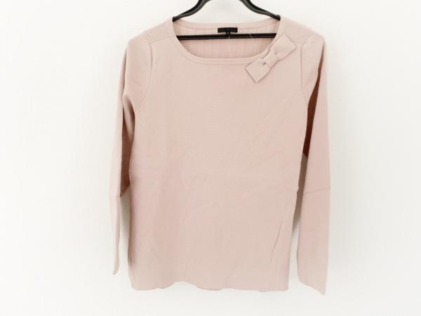 トゥービーシック 長袖セーター サイズ2 M レディース美品  ベージュピンク リボン
