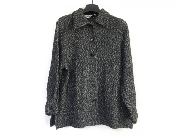 スキャパ コート サイズ38 L レディース 黒×ベージュ×グレー ニット/春・秋物