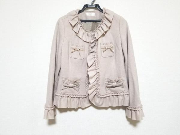 ピンクハウス ジャケット サイズ3(M) レディース美品  ベージュ フリル/リボン