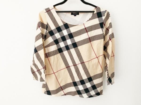 バーバリーロンドン 七分袖Tシャツ サイズ2 M レディース美品  チェック柄