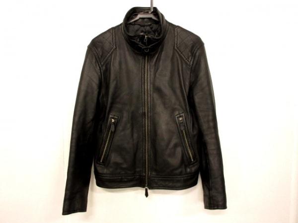 バーバリーブラックレーベル ライダースジャケット サイズM M メンズ 黒 冬物/レザー