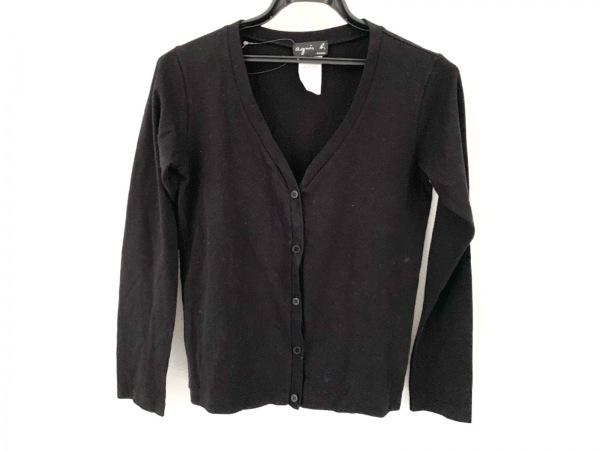 agnes b(アニエスベー) カーディガン サイズ2 M レディース美品  黒